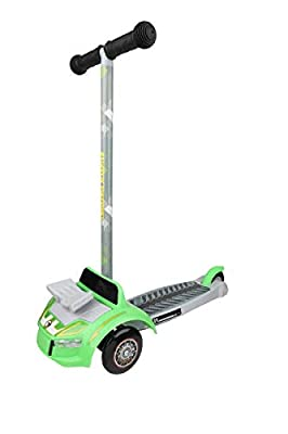 Dimensions 3D Hot Wheels Self Balancing Scooter ACTSCOT-479HW | Toddler Scooter & Kids Scooter, 3 Wheel Platform, Foot Activated Brake, 75 lbs Weight Limit, for Ages 3 and Up