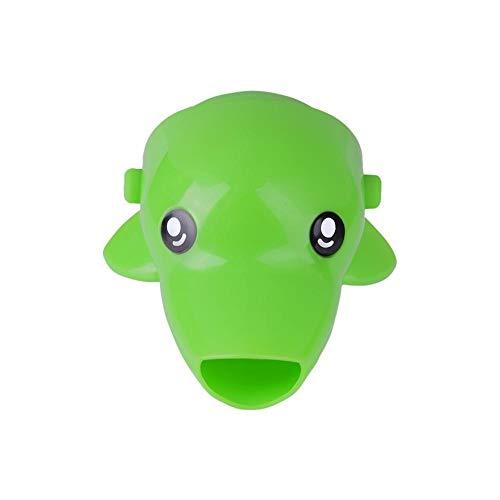 Extensor de Grifo para niños Dibujos Animados de niños Animal Extender Extensor Infantil Niño Mano Lavado Ayuda Baño Accesorios Baño Juguetes Juguetes de Agua Juguetes (Color : Verde)