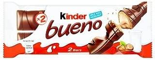 Kinder Chocolate 6 PACK - Bueno, Happy Hippo, Chocobons, Kinder with Cereal, Mini bars (Bueno Milk - 43g)