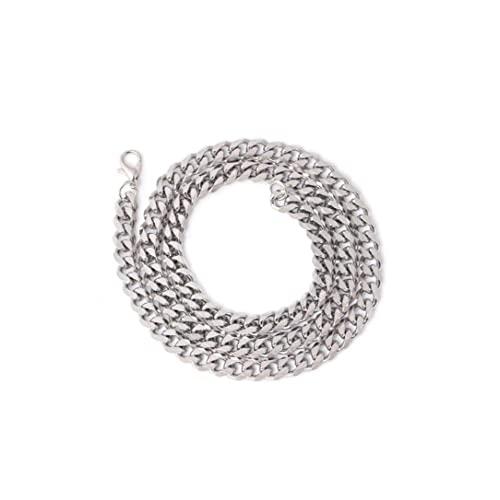 Hainice Collar Pulsera Set Metal Sterling Silver Cadena Colgante Ajustable Brillante Pulsera