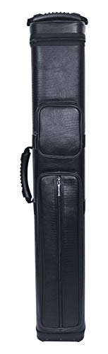ASKA Hard 4x8 Pool Cue Case, Holds Up to 4 Butts and 8 Shafts, Choice of Styles (C48)