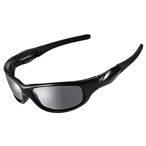 OMORC Occhiali Polarizzati Uomo da Sole Sportivi 100% UV400 Protezione, con TR90 Telaio Durevole,...