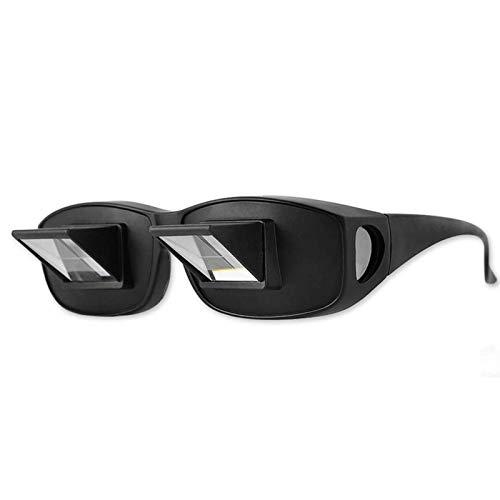 lossomly Fauler Leser Prisma Brille Horizontale Brechung Brille Sicherungsbrille Lazy Glasses Liegen Bett Fernsehen Prismengläser