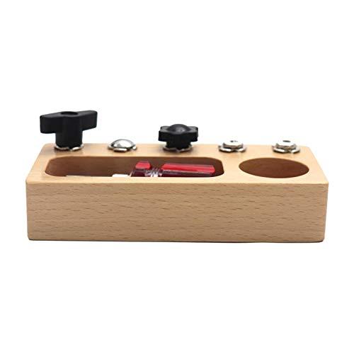 Hellery Montessori Baby Toy Tornillos Tornillos Tablero Destornillador Prácticas Habilidades Motoras
