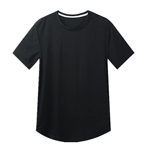 Hem Camisetas Hombre Color Sólido Camiseta de manga corta Tops