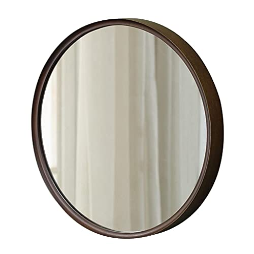 MU Espejo de Pared Pequeña Pared de Madera Recolgante Maquillaje Espejo Decorativo Espejo para Dormitorio Hogar Sala de Estar Vestidor Closet Pasta Pasta Tipo