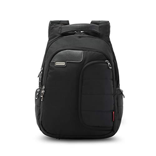 Harissons Bags Vervo 15,6' portatile / viaggio/zaino casual per uomini e donne con copertura antipioggia, nero, Large, Zaini