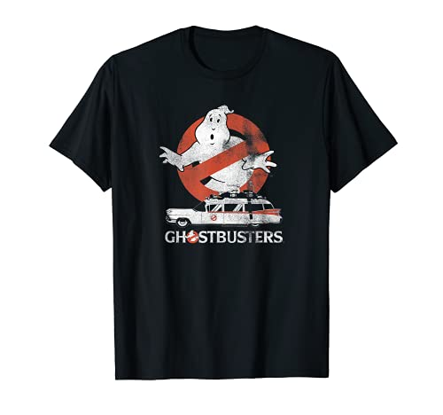 Ghostbusters Classic 1984 No Ghost with Ecto Car T-shirt. 5 Colors for Adults and Youth