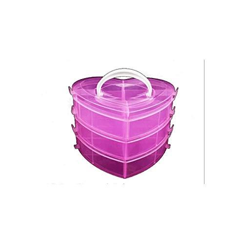 ADSE Mini Cajas de Almacenamiento de plástico Transparente con Tapa para artículos Tapones para los oídos Pellets Cuentas Jewerlry