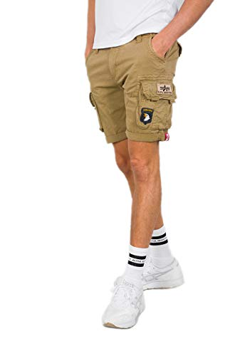 Alpha Industries Crew Patch Shorts Sand 36