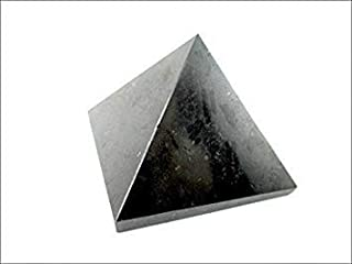 Jet Energized Black Tourmaline Pyramid Stone India Handcrafted 2 inch Approx. A++ Crystal Pouch Stress Relief 40 Page Jet International Crystal Therapy Booklet Gemstone Image is JUST A Reference