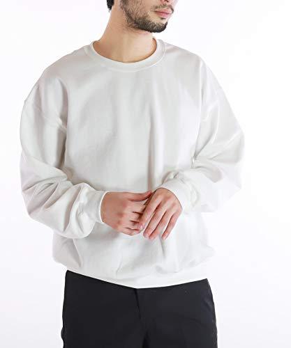 GILDAN(ギルダン) 8oz スウェット トレーナー メンズ ヘビーブレンド 長袖 裏起毛 M ホワイト