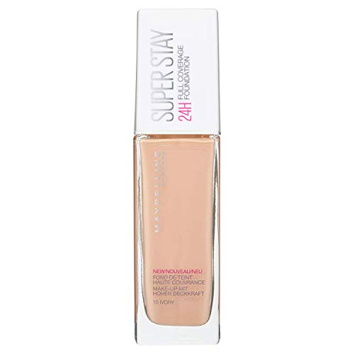 Maybelline New York, Base de Maquillaje, Superstay 24H, 10 Ivory, 30ml