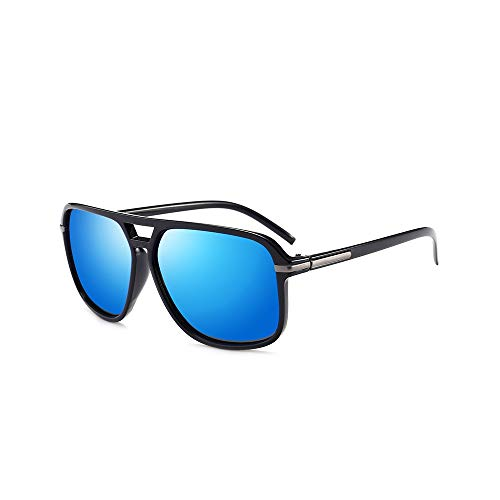 WEIHAOQIANG Gafas de Sol extragrandes Gafas de Espejo polarizadas para Hombres Gafas de Sol para Conducir HombreHD Sunglass