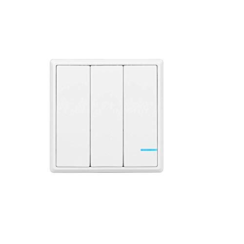 Preisvergleich Produktbild TSSS Funkschalter Lichtschalter Schalttafel mit LED Anzeige Licht (Enthält keinen Empfänger) (3 Kanal)