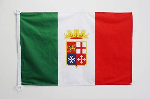 AZ FLAG Bandiera NAVALE Italia Marina Militare 45x30cm - Bandiera MARITIMA Italiana NAVALE 30 x 45 cm Speciale nautismo
