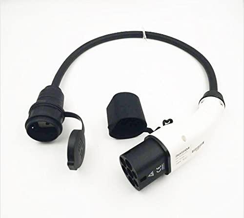 RENJIFAN EV conector 16A tipo 2 macho enchufe a Schuko socket EV adaptador de carga para cargador portátil EV