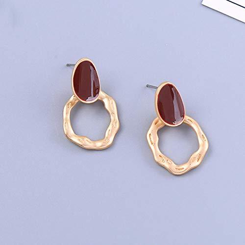 Lovely Drop Earring For Women Red/Purple/Green Enamel Mujeres Pendientes Jewelry Gift-Purple