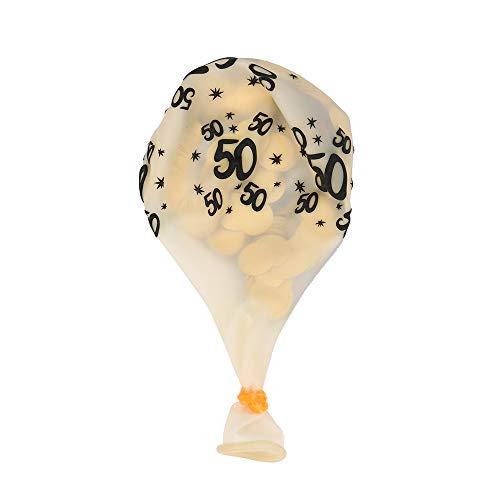 Janly Clearance Sale 5 globos de confeti para decoración de bodas, fiestas, decoración del hogar para el día de Pascua (C)