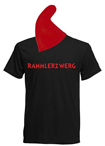 Aprom Zwergen T-shirt kostuum met muts diverse Motieven om uit te kiezen - Carnaval JGA Sheriff groepskostuum carnaval dwerg