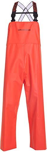 Grundéns Men's Shoreman Processing Bib Pants, Orange - 4X-Large