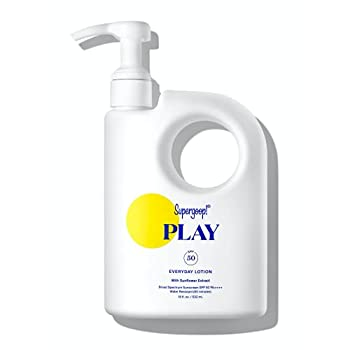 Supergoop! PLAY Everyday Lotion 18 oz - SPF 50 PA++++ Reef-Safe Broad Spectrum Body & Face Sunscreen for Sensitive Skin - Water & Sweat Resistant - Clean Ingredients - Great for Active Days