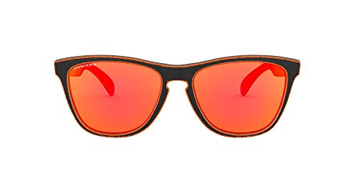 Oakley Frogskins Asian Fit Sunglasses Raceworn Orange Prizm Ruby Lens