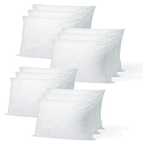 Buy Discount Hometex Canada Pillow Insert 12 x 18 Polyester Filled Standard Cover (12 Pack)