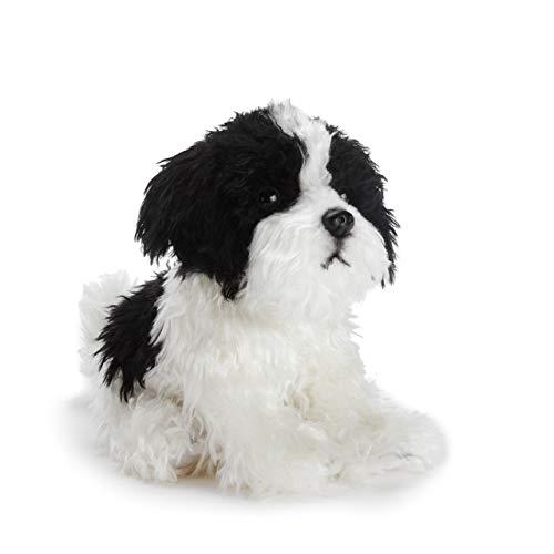 DEMDACO Sitting Small Havanese Dog Black and White Children's Plush Stuffed Animal