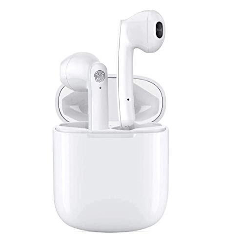 i18 Auriculares inalámbricos Bluetooth 5.0,Control táctil, IPX5 reducción del Ruido estéreo 3D HD, con micrófono y Estuche de Carga portátil para Todos Bluetooth de Android/iPhone/Samsung