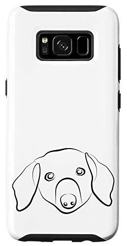 Galaxy S8 Dachshund Line Art Drawing Sausage Wiener Dog Case
