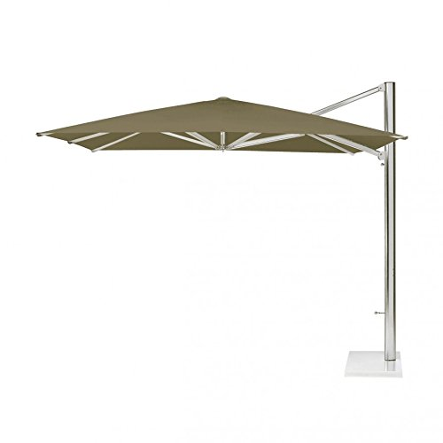 Shade Ampelschirm 400 x 320 cm - inkl. Schirmständer und Schutzhülle - taupe