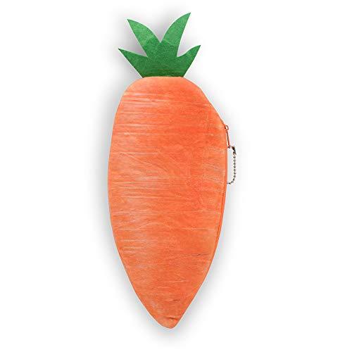 Studenten Kinder Federmäppchen, 3D Kreative Plüsch Make-up Beutel Tasche, Lustiges Gemüse Obst Lebensmittel Form Kleinkinder Stiftboxen, Neuheit Kosmetiktasche für Frauen Mädchen