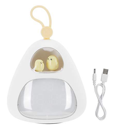 BHDK Reloj de luz Nocturna, Lámpara para Dormir, Soporte de corrección automática, Estudiantes para el Dormitorio de Regalos para el hogar