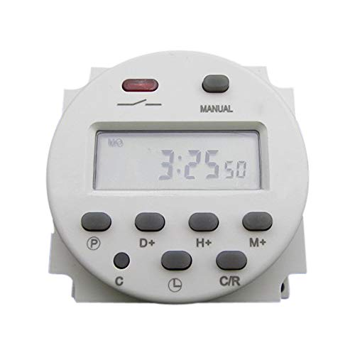 CN101 110 V DC/AC Digital temporizador LCD programable relé de tiempo interruptor para enchufes eléctricos blanco