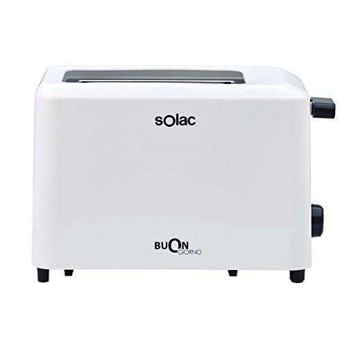 Solac BUON Giorno TC5307 TC5307-Tostador (6 Niveles de Tostado, Capacidad de 2 rebanadas), Color Blanco, 750 W, 2 Ranuras