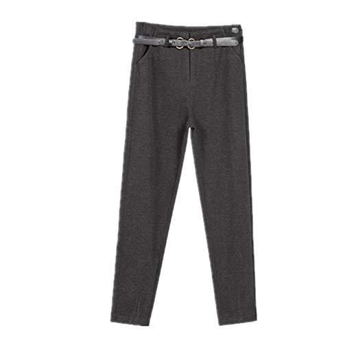 N\P Primavera e Invierno Primavera Mujer Pantalones de Cintura Alta Mujer Pantalones