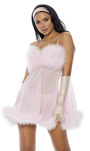 Forplay Women's Femme for Real Sexy Movie Character Costume, Baby Pink, XS/S