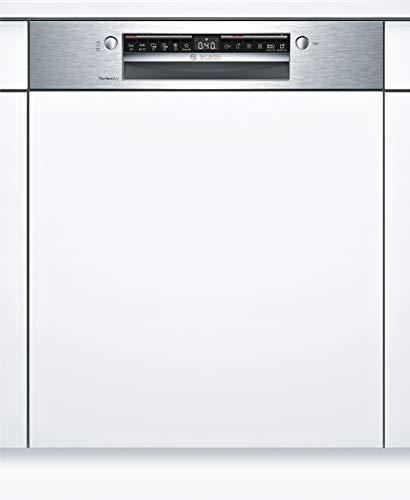 Bosch SMI6ZCS00E Serie 6 Geschirrspüler Teilintegriert / A+++ / 60 cm / Edelstahl / 237 kWh/Jahr / 14 MGD / SuperSilence / VarioSchublade / Home Connect