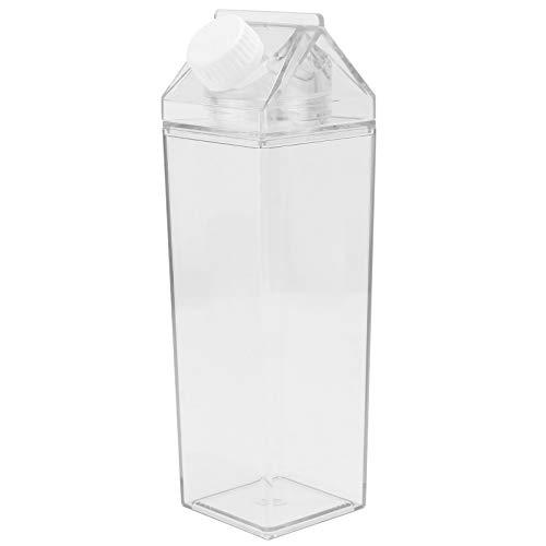 Hemoton Wasserflasche Milchkarton Trinkflasche Milchflasche Wasserkrug Leere Vorratsflasche für Getränke Getränkesaft, 500Ml
