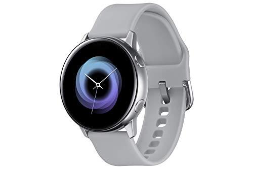 Samsung Galaxy Watch Active, Bluetooth Fitnessarmband Für Android, Fitness-Tracker, 40 mm, wassergeschützt, Silber (Deutche Version)