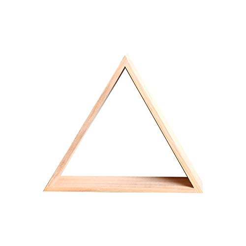 Kentop - Estantería para decorar triángulo de madera, estanterías de pared, almacenamiento para decoración de pared, organización para dormitorio (estilo 2)