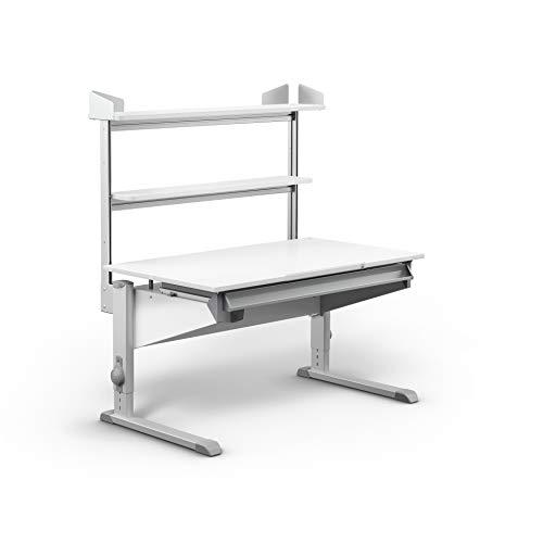 moll Easy Flex Deck Kinderschreibtisch Erweiterung, Holz, Weiß, 112,80cm × 10,89cm × 58,50cm