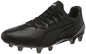 PUMA King Platinum FG AG Men's Soccer Boots, Puma Black-puma White, 13 US by PUMA