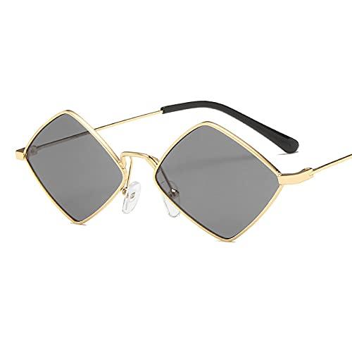 QFSLR Gafas de sol, Rhombus Retro Moda Gafas de Sol, Hombres Y Mujeres Gafas De Sol, Protección Uv400,H