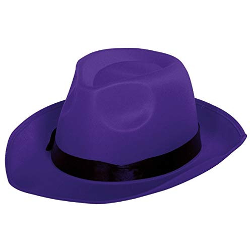 Chapeau de Gangster Tear Drop Fedora Violet