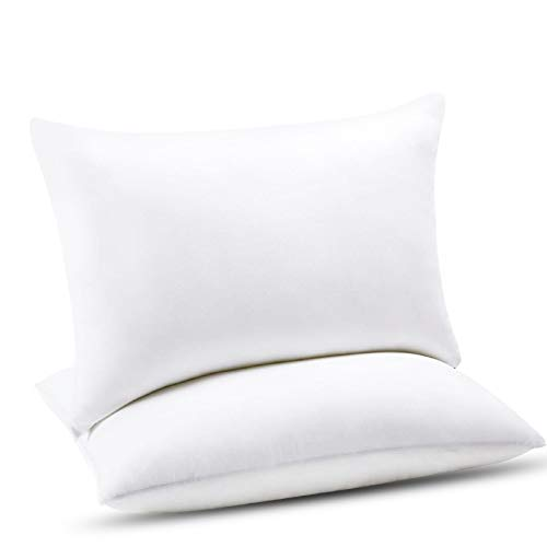 Emolli Hotel Bed Pillows for Sleeping - 2 Pack Luxury Plush Pillows, 100% Cotton Cover and Super Soft Down Alternative Microfiber Filled Pillows, Standard Size, 20 x 26 inches