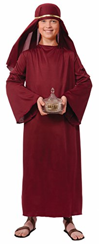 Forum Novelties Biblical Times Shepherd Burgundy Costume Robe, Child Small