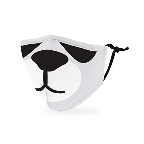 Weddingstar kinder waschbare, Mundschutzmasken aus Stoff. Wiederverwendbar und verstellbar mit Staubfiltertasche - Panda