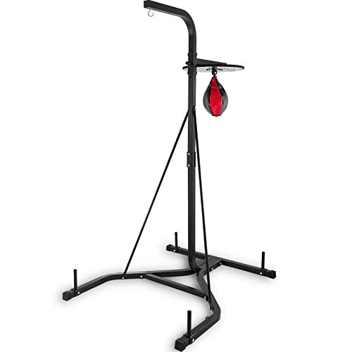 Happybuy Free Standing Boxing Bag Stand,Unisex Boxing Set, Foldable Single Station Heavy Bag Stand,Punching Ball,Boxing Punching Speed Ball,Boxing Bag with Boxing Rack, for Training, for Home Fitness